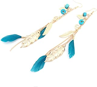 Long Earrings For Women Leaf Feather Earrings