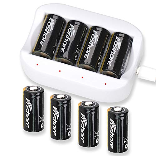 Wireless Secutity Camera Battery Charger and Rechargeable Batteries for Arlo Wireless Security Cameras(VMK 3200/VMC3030/VMS3330/3430/3530/) Flashlight Etc,One Charger and 8 pcs Batteries for Arlo