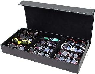 75420459b5 Wuxingqing Cajas de Almacenamiento 12 Cuadrícula de Gafas de Sol Estuche de  exhibición Gafas Caja de