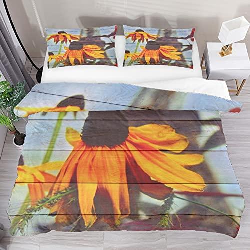 Juego de funda de edredón con textura de madera, de tres piezas, juego de cama de tamaño completo con 2 fundas de almohada y 1 funda de edredón para el hogar, mujeres y hombres