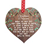 2020 Christbaumschmuck Memorial Ornament Christmas in Heaven What Do They Do In Memory Dekoration...