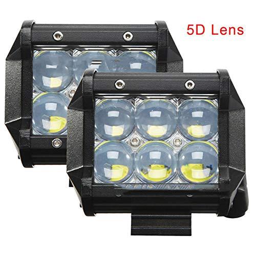PoJu Lampe de travail à LED 30W4 pouces 6 lumière 5D lentille spotlight/projecteur de travail de voiture