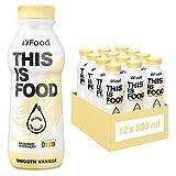 YFood ® Vanille | Leckere Trinkmahlzeit für unterwegs | This is Food Drink | 34g Protein, 26 Vitamine und Mineralstoffe (12 x 500ml)
