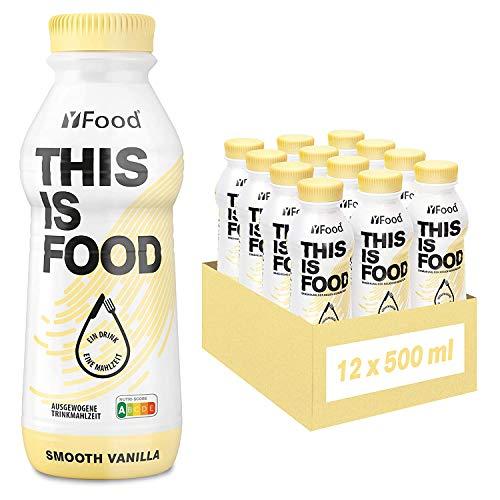YFood Vanille | Leckere Trinkmahlzeit | 34g Protein, 26 Vitamine und Mineralstoffe | Astronautennahrung, 12 x 500 ml