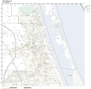 ZIP Code Wall Map of Fort Pierce, FL ZIP Code Map Laminated