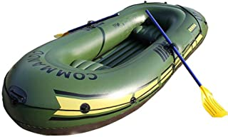 Onlyonehere Inflatable Boat Set, Inflatable Kayak Fishing Boat Blow Up Drifting Diving Boat with Paddle and Foot Pump and Safety Rope and Other Accessories