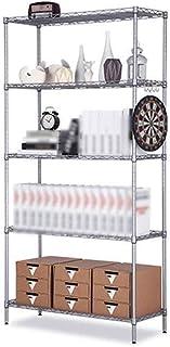 HYYDP étagère Étagère de Rangement Casiers, 5 tablettes Étagère en métal Support de Rangement for Garde-Manger Placard Cui...