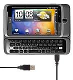 Kit USB de sincronización de datos y cable de carga para HTC Desire Z - Negro