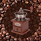 Macinacaffè manuale in legno,DONGKIKI macinacaffè classico, macina caffè vintage per ca...