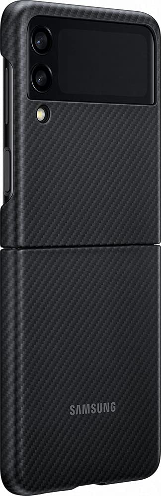 Samsung Galaxy Z Flip 3 Phone Case, Aramid Protective Cover, Heavy Duty, Shockproof Smartphone Protector, Black
