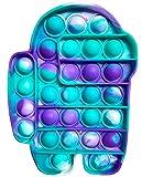 Fidget Toy Juguete Antiestres | Pop It Sensorial Among Us para Niños y Adultos | Bubble Push Pop it Among us | Juguetes Antiestrés de Explotar Burbujas para Aliviar estrés y Ansiedad.