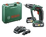 Bosch Perceuse-visseuse 'Expert' sans fil PSR 18 LI-2 Ergonomic 2 batteries 18V 2,5 Ah, technologie Syneon 06039B0101