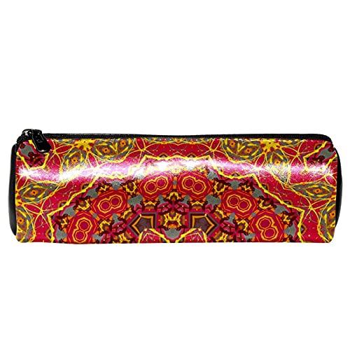 Coloful Hippie Mandala estuche de papelería bolsa de almacenamiento organizador bolsa de cosméticos para la escuela, adolescentes, niñas, niños, hombres y mujeres