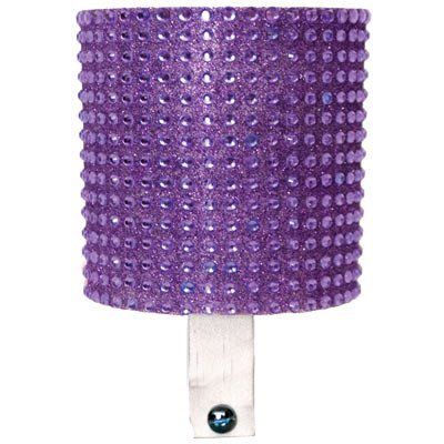 Cruiser Candy Bicycle Drink Holder Bling Bike Cup Holder Rhinestone Bottle Holder Royal Purple