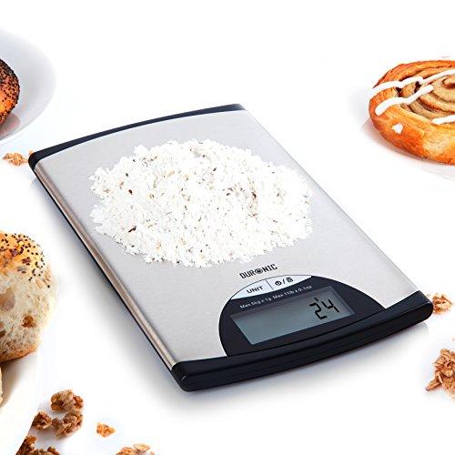 Duronic KS760 Báscula Cocina Digital 5 Kg de Acero inoxidable Balanza Cocina Peso