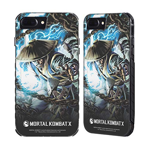 Head Case Designs Ufficiale Mortal Kombat X Raiden Legami di Sangue Cover Libro Fumetto Cover Nera Evolution Compatibile con Apple iPhone 7 Plus/iPhone 8 Plus