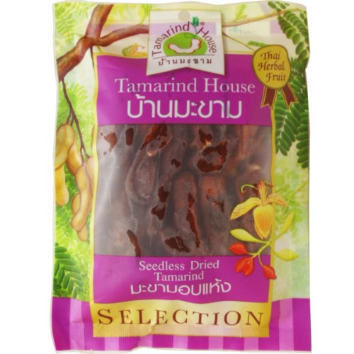 Seedless Dried Sweet Tamarind Snack Natural Real Herbal Fruit Net Wt 90 G (3.17 Oz) Tamarind-house Brand X 3 Bags