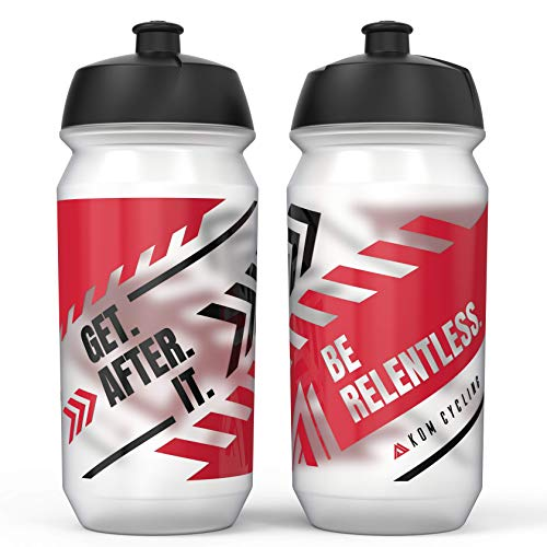 KOM Cycling Water Bottle 2 Pack. Cycling Water Bottle Set to...
