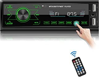 $36 » Audio System Single Din car Stereo Touchscreen FM Radio Receiver Multimedia Car Radio withBluetooth Hands-Free Call Music...