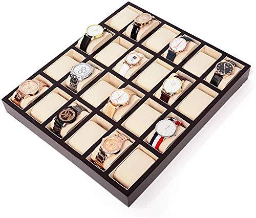 HJ Inicio Caja de reloj Cajas Para Joyas Hombre Mujer Regalo