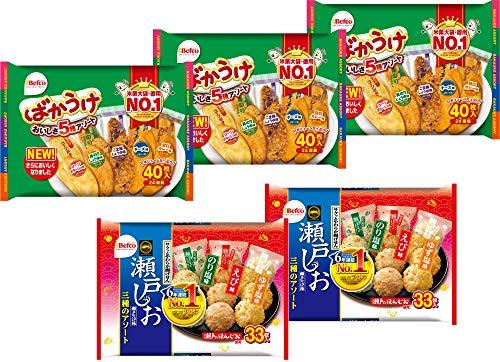【Amazon.co.jp限定】 栗山米菓 ばかうけ&瀬戸の汐揚アソート 2種