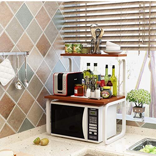 Keukenrek, dubbelwandig, geschikt voor de magnetron, ingrediënten: Cremagliera met twee etages, Cremagliera, kookplaat, van roestvrij staal, afmetingen: 41 x 86 x 57 cm (kleur: geel)