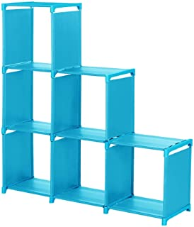 GXOK Multi-Function 3-Tier Assembled Storage Rack,DIY Storage Rack Open Bookcase,Creative Cabinet Storage Rack, Sundries Storage Rack for Living Room Bedroom Office [Ship from USA Directly]