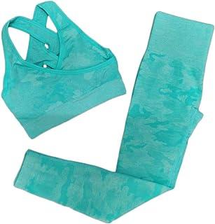 XFKLJ Sports Bra Yoga Pants Yoga Set Women Seamless Camouflage Tops/Pants Fitness Sports Bra High Waist Gym Leggings Camo ...