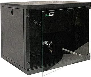 NavePoint 9U Basic IT Wall Mount Network Server Data Cabinet Rack Glass Door Locking Black