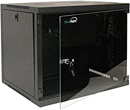 NavePoint 9U Basic IT Wall Mount Network Server Data Cabinet Rack Glass Door Locking Black
