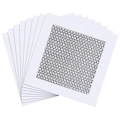 8 pezzi in vetroresina kit di patch di riparazione da parete in gesso per coprire crepe fori su recinzioni in vinile, toppe autoadesive in alluminio per cartongesso (bianco)