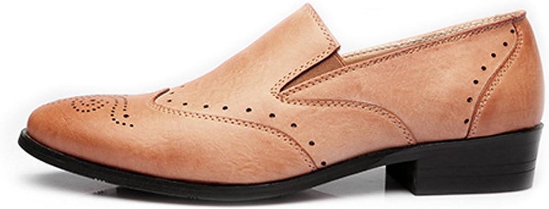 Fang-schuhe, 2018 Herren Low Top Top Top Business Schuhe Matte Atmungsaktiv Hohl Carving PU-Leder Slip-on Ausgekleidet Oxfords (Farbe   Beige, Größe   41 EU)  db193d
