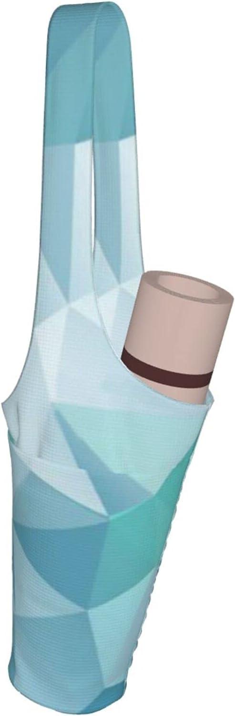 Jeezhub Polygon Geometric in Blue Yoga Bag Overseas Max 41% OFF parallel import regular item Mat Pocket Large with
