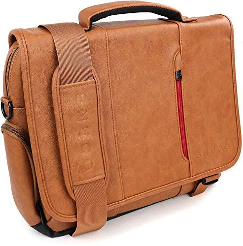 Snugg PU Leather Laptop Bag, 17-Inch, Brown