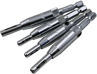 "Eyech 4Pcs HSS Center Hinge Drill Bit Mill Tool Self Centering Drill Bit for Hole-5/64"" 7/64"" 9/64"" 11/64"""