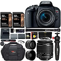 Canon T7i kit camera with various accessories - - Clicking this image will take you to the Amazon sales page for the product