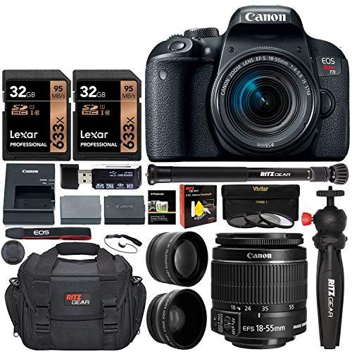 Canon EOS Rebel T7i Camera, EF-S 18-55 is STM Lens...
