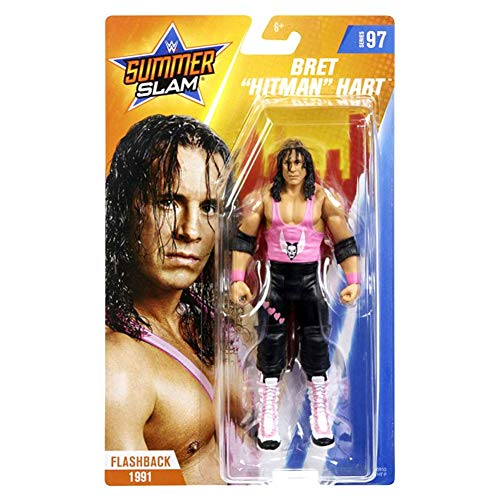WWE GCB67 - Basis Actionfigur Bret Hitman Hart 15 cm, Actionfiguren ab 6 Jahren