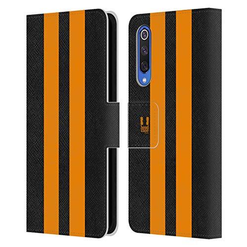 Head Case Designs Schwarzer Rennenwagen Transportmittel Farbig Leder Brieftaschen Handyhülle Hülle Huelle kompatibel mit Xiaomi Mi 9 SE