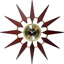 Infinity Instruments Orion Starburst Wall Clock Mid Century Modern 30 inch Large Mid Century Modern Clock Mid Mod Decor Living Room Dining Room Bedroom Retro Quartz Movement