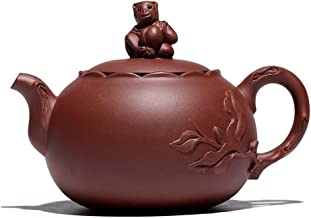ManYHM Yixing Purple Clay Teapot Ore Pure Handmade Sets Of Pots Monkey Watched In Delight As Tea Gift Box Teapots Ceramic Large (Color : One pot of four cups)