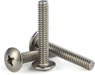 M8-1.25 x 30mm Truss Head Phillips Machine Screws, Full Thread, 18-8 Stainless Steel, Quantity 15