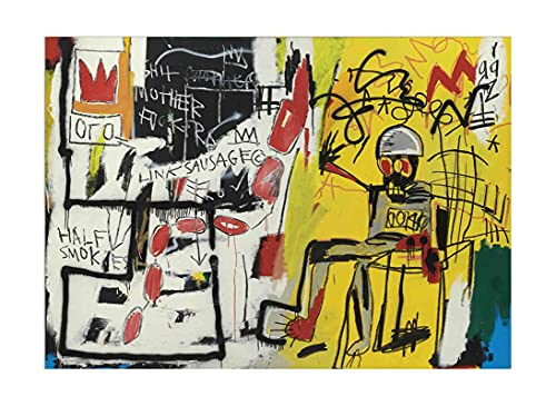 Chaise électrique sans titre par Jean-Michel Basquiat Tableau Decoration Murale Poster Impression Sur Toile Tableaux Affiche Decoration Murale Toile Murale (60x85cm(24x33inch),Sans cadre)