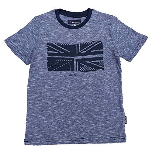 Queen Damen T-Shirt Vintage Union Jack navy blau