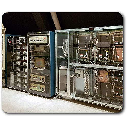 Komfortable Mausmatte - Vintage Computer Prozessoren Retro Geek Tech für Computer & Laptop, Büro, Geschenk, rutschfeste Basis