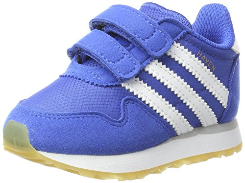 adidas Haven CF I, Scarpe da Ginnastica Unisex-Bimbi, Blu, Bianco (Azul Ftwbla), 22 EU