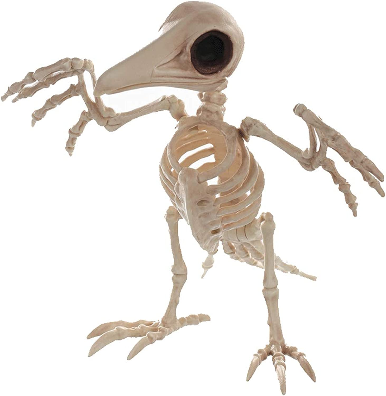 Crow Skeleton Haunted Animal Skeleton Horror Bar Movie Props Halloween Ornament
