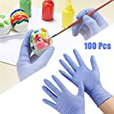 Changli 100 guanti usa e getta, per bambini, per pittura, senza lattice, per uso alimentar...