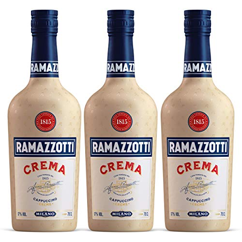 Ramazzotti Crema 3er Set, italienischer Kaffeelikör, Likör, Alkohol, Flasche, 17%, 3x700 ml