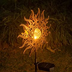 SOLAR POWER:Solar Panel collects sunlight to charge the batteries(included) during the day;Automatically turns on at dusk for up to 8 hours of nighttime illumination 15 Lumens Warm White Lantern:Easily add ambiance to your garden,outdoor and pathway ...
